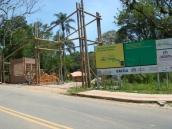 Portal de entrada do Parque Maciço do Morro da Cruz.